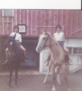 Me on Diamond, Patty Duffy on Ginger at Taconic Stables 1961